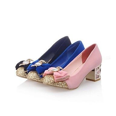 Womens Glitter and Bow Designer Heel ( 3 Colours )