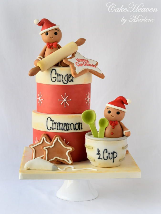 Christmas Baking Cake by CakeHeaven by Marlene