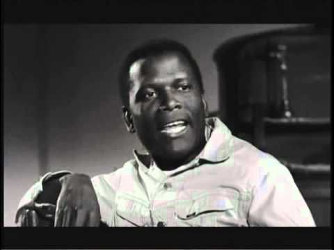 """Sidney Poitier..  scenes  from  """"Lilies Of The Field""""  Won Academy Award (Oscar) for this 1963 film."""