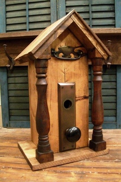 Upcycled Vintage BirdHouseON SALE by OneQuarterKen on Etsy, $47.00