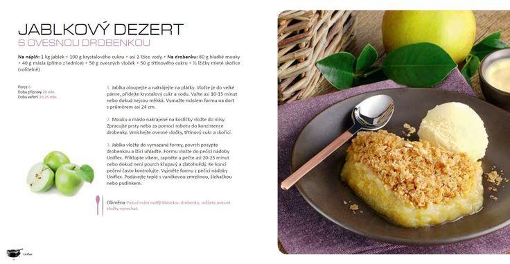 Jablkový dezert s ovesnou drobenkou recept, Tefal Uniflex