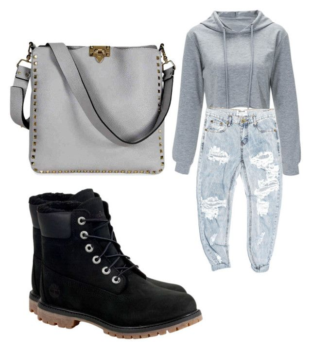 """""""Untitled #150"""" by adrianna-nicole-smith on Polyvore featuring OneTeaspoon, Timberland and Valentino"""