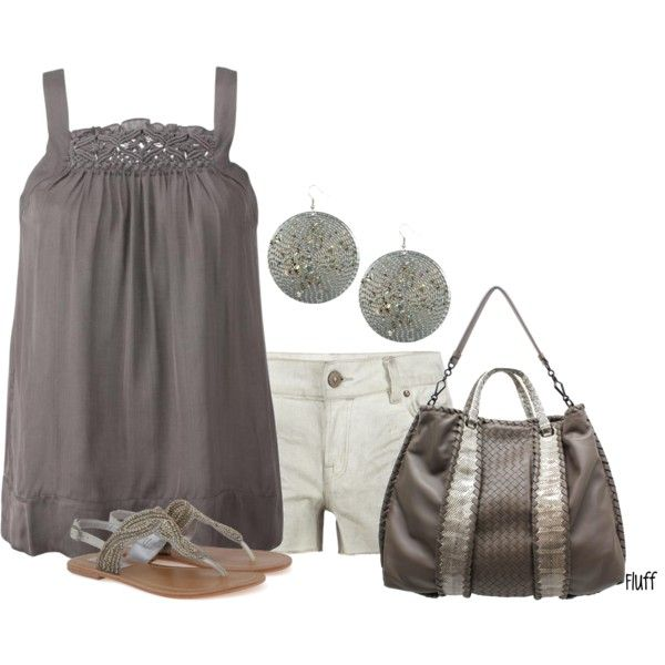 A fashion look from June 2012 featuring InWear tops, AllSaints shorts and Steve Madden sandals. Browse and shop related looks.