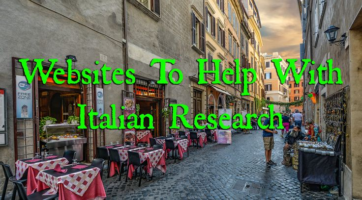 Websites To Help With Researching Italian Ancestors  Gens.info can be incredibly useful for researching Italian ancestors with more unique names as you can usually narrow down where that family name is from to a specific region.