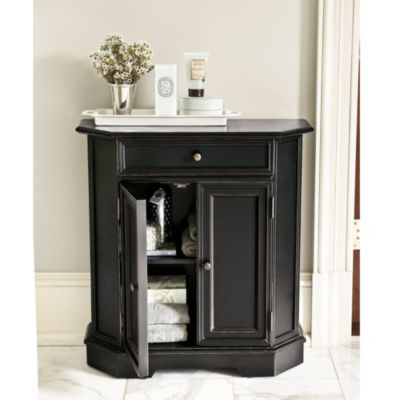 Piccola CabinetEntryway Tables, Powder Room, Decor Ideas, Front Doors, Small Entryway, Furniture, Bathroom Cabinets, Ballard Design, Piccola Cabinets