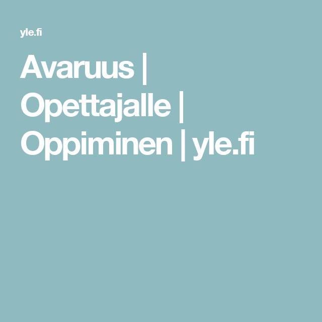Avaruus | Opettajalle | Oppiminen | yle.fi