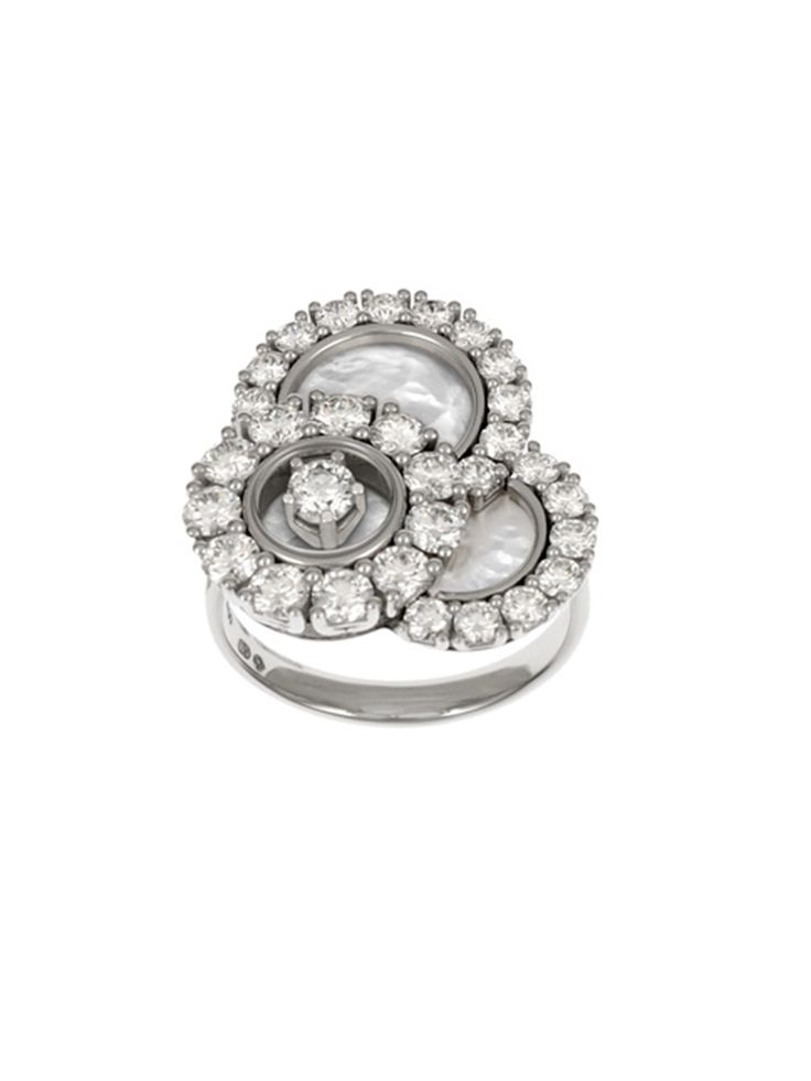 Chopard Happy Dreams Mother-of-Pearl Ring with Diamonds, Size 53