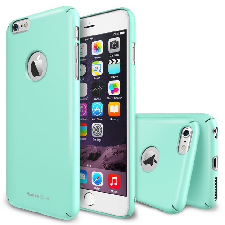 "iPhone 6 Plus Case - Ringke SLIM iPhone 6 Plus Case 5.5 "" [All Around Protection][Logo-Cut Out MINT] Full Top and Bottom Coverage Premium Dual Coated Hard Case for Apple iPhone 6 Plus 5.5 Inch - Eco Package, $5.99 in stock 10/13."