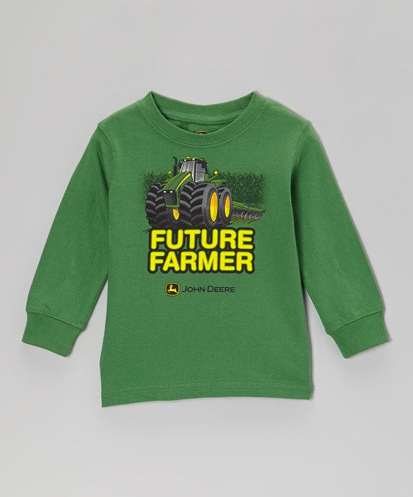 Green 'Future Farmer' Long-Sleeve Tee - Toddler | Farmers ...