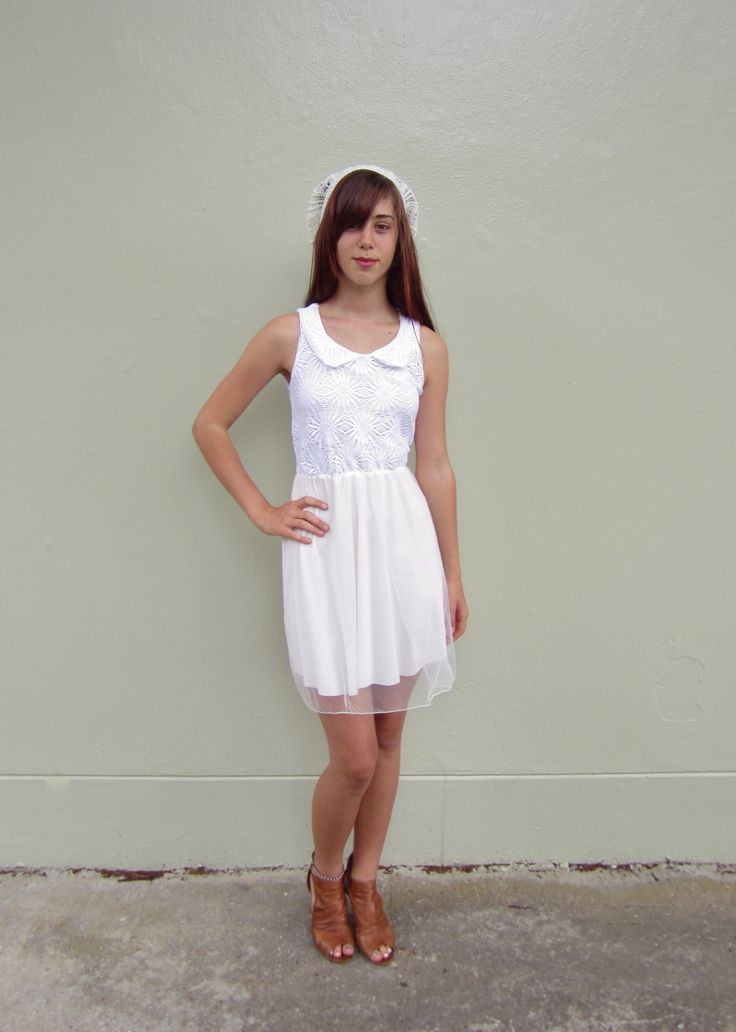 White Dress (Lace & Sheer) Size 06 $19.99
