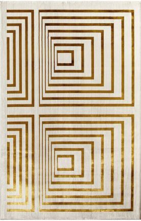 Designer rugs at 60% off! Rugs America Ambrose Illusion Gold Rug | Contemporary Rugs