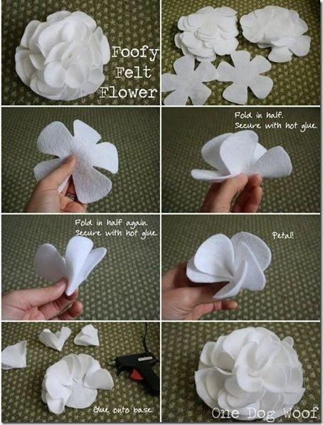 Foofy Felt Flower.........Make your own hair bows...:
