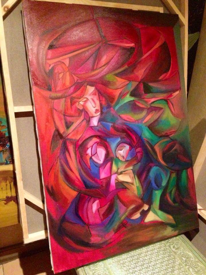 Motherhood . Oil on canvas.