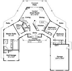 Ranch Style House Plans - 2473 Square Foot Home , 1 Story, 3 Bedroom and 2 Bath, 3 Garage Stalls by Monster House Plans - Plan 17-248