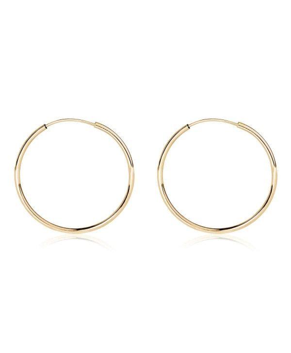 Earrings Hoop 14k Yellow Gold Endless 10 20mm C1189n3xyeg Fashion Style Jewelry Hoopearrings