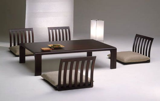 I've always wanted a low, Japanese style table like this... normally I just see cushions on the floor for seats, though. These are interesting!
