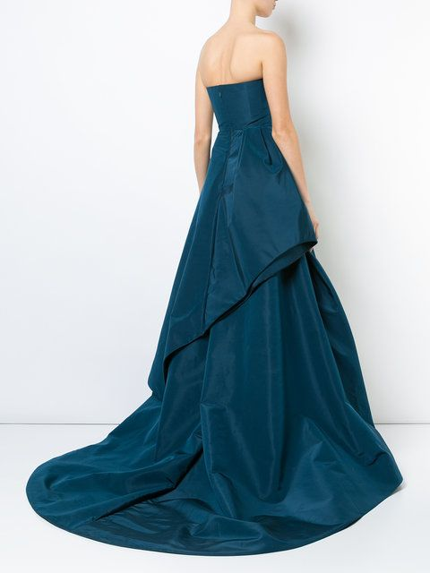 GABRIELLE'S AMAZING FANTASY CLOSET | Oscar de la Renta's Magnificent Teal Green Silk Gown (Back Image) You can see all of the Images of this Outfit and my Remarks on this board. - Gabrielle