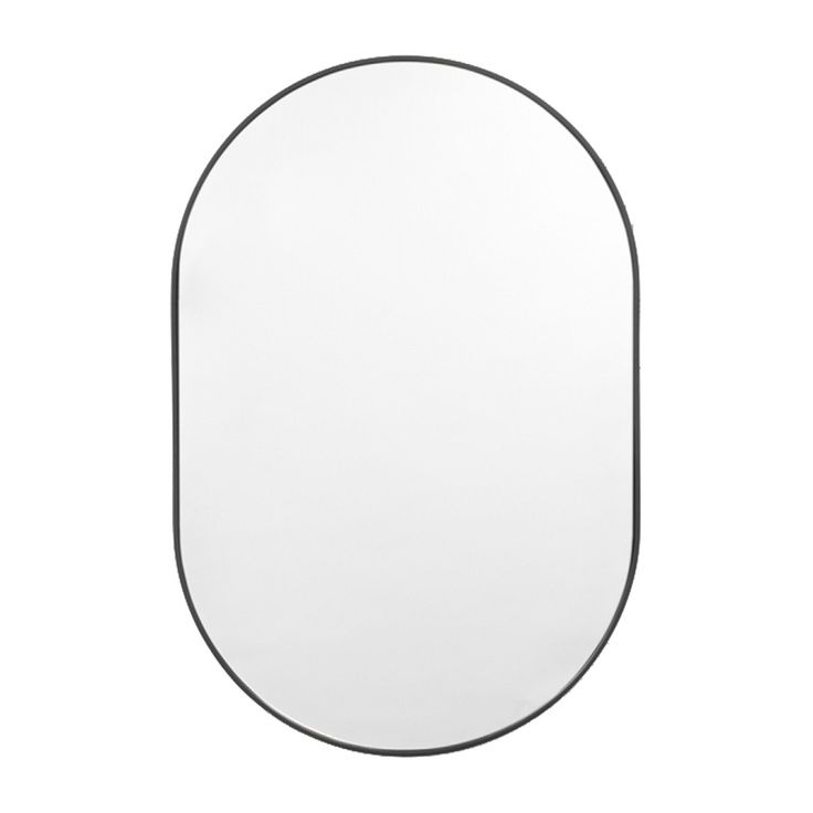 Browse Contemporary Mirrors Online or Visit Our Showrooms To Get Inspired With The Latest Homewares From Middle of Nowhere - Bjorn Oval Mirror (Black)