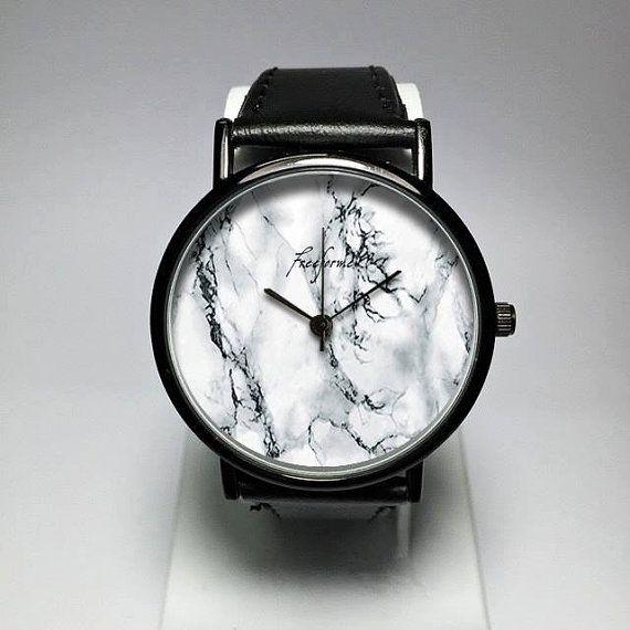 Mármol, reloj, reloj para hombre, relojes mujer, minimalista, correa de cuero, grabado, joyería, moderno, regalo, Simple, silicona, personalizar, Freeforme