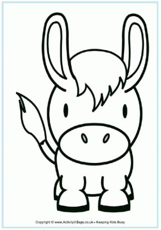 Donkey Colouring Page | For My Grandbabies | Pinterest | Donkey ...