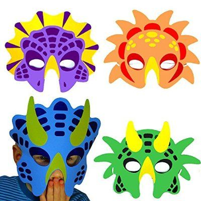 German Trendseller® - 8 x Mousse de Masques dinosaure en Mousse ┃ trié ┃ enfants…