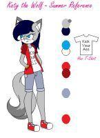 Katy the Wolf - Summer Reference by Nekoletta99