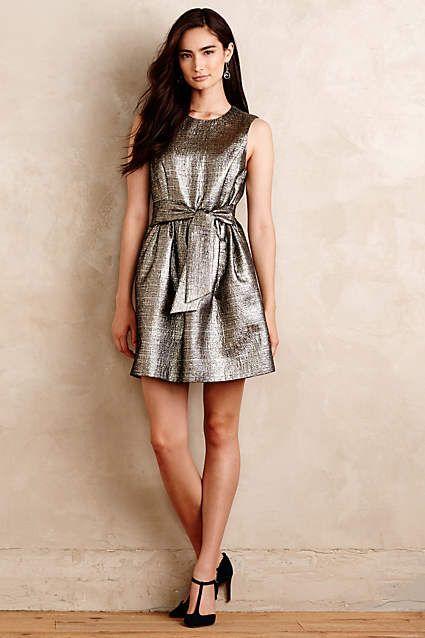 Shimmered Neve Dress - anthropologie.com