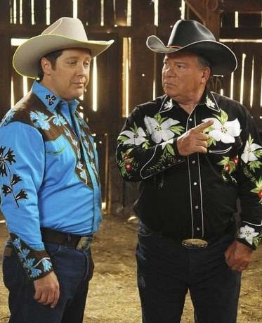 'Boston Legal' James Spader & William Shatner Cowboy Up!!!!