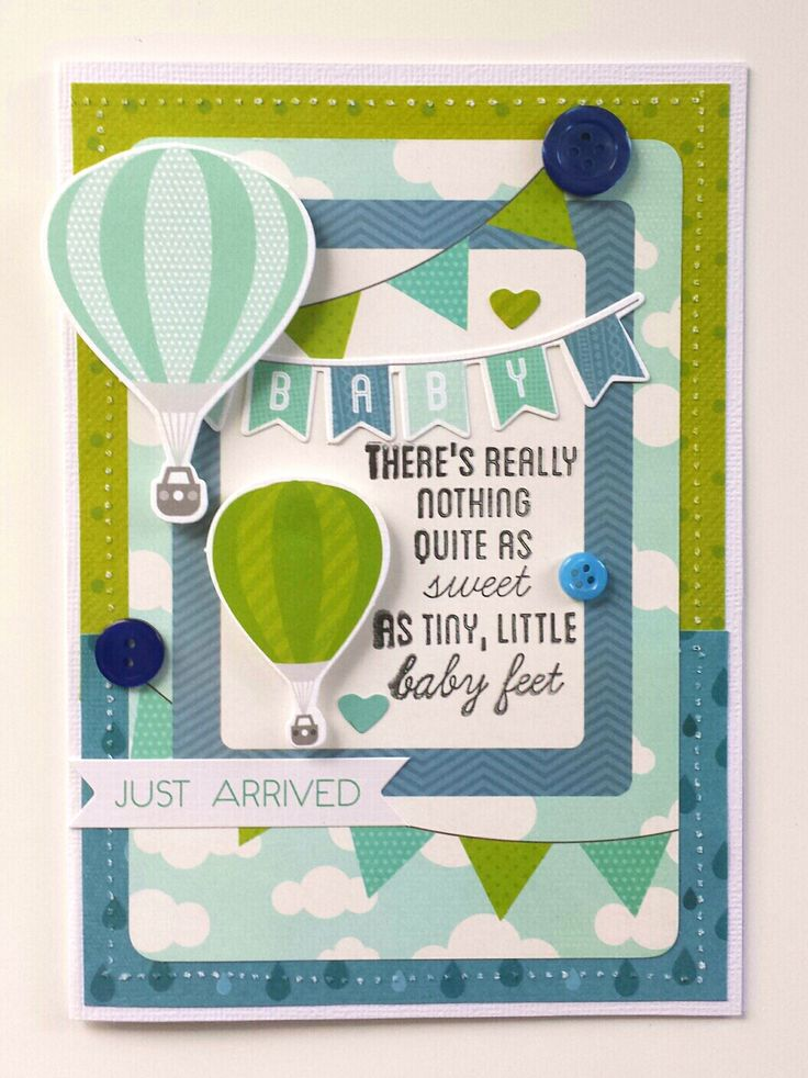 """""""Baby Feet"""" Card by Amanda Baldwin for Kaisercraft using 'Little One' collection - Baby Cards."""