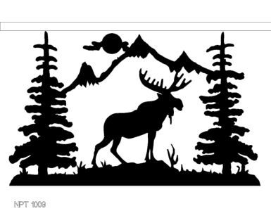 Mountain Silhouette Wall Art Moose Wall Art Powered By