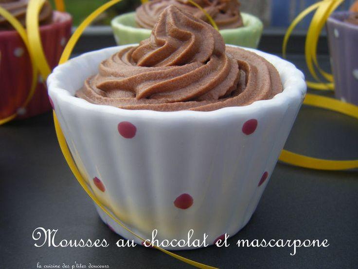 Mousses au chocolat noir et mascarpone