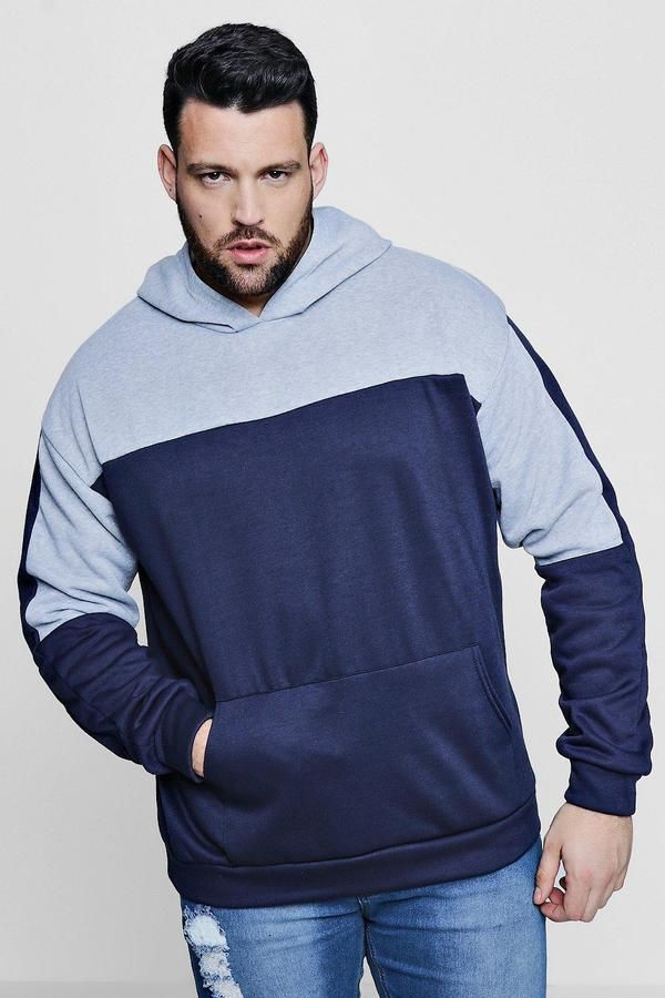 d6405c22f6e0 Big And Tall Colour Block Over The Head Hoodie | Products | Pinterest | Big  & tall, Big and Tall guys