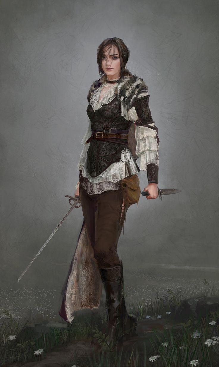 fantasy-art-engine:  All Men Must Die, Arya Starkby Dimitri Neron