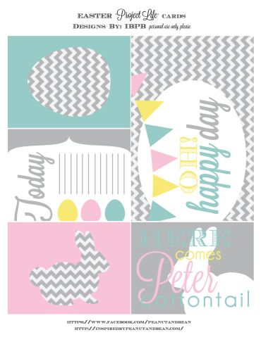 Free Easter Project Life Cards