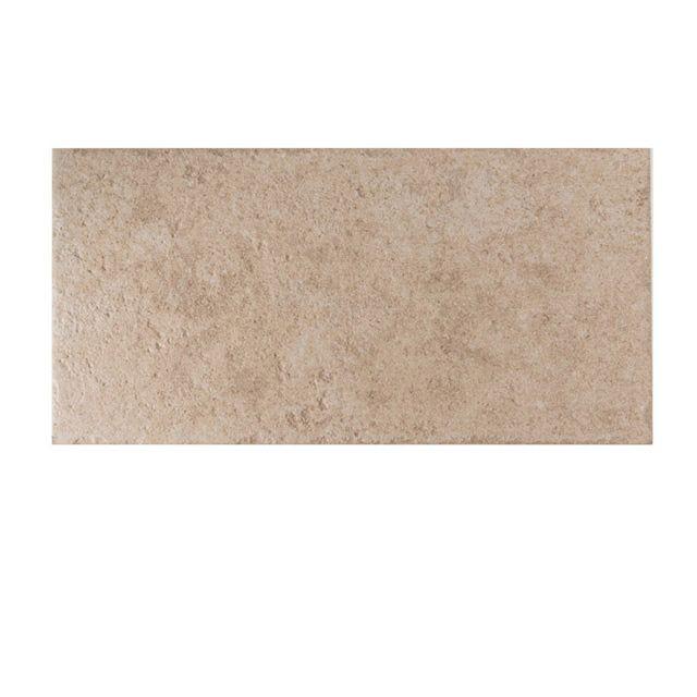 Carrelage sol taupe 30 x 60 cm Natura - CASTORAMA