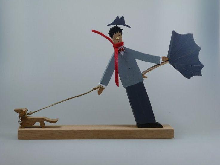Figur aus Holz -  Herbst - Sturm - Wind von mw-holzkunst auf DaWanda.com