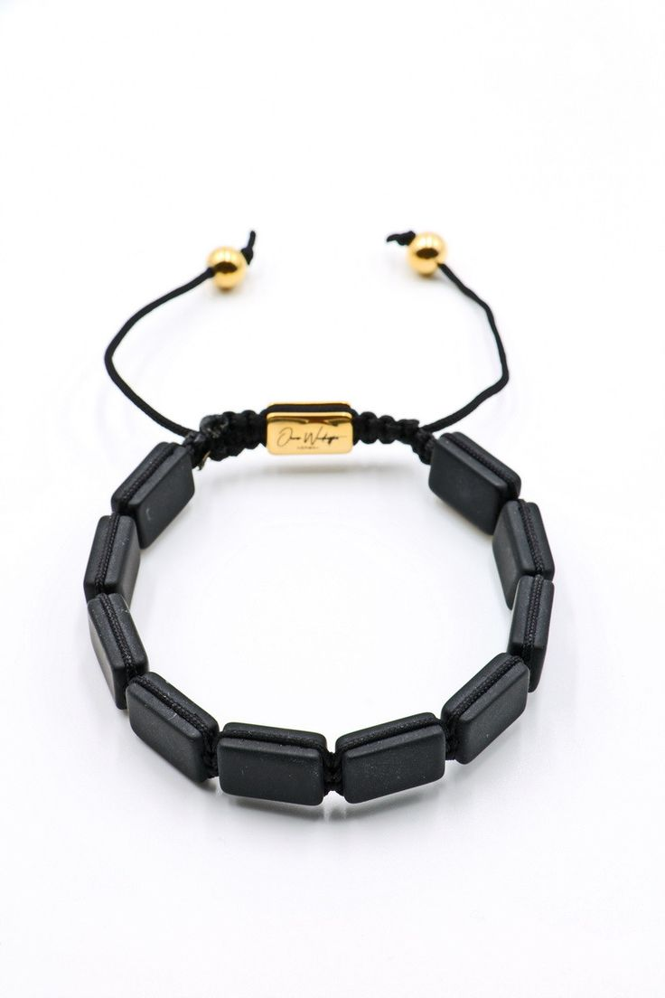 Black Matte Onyx Plated Bracelet