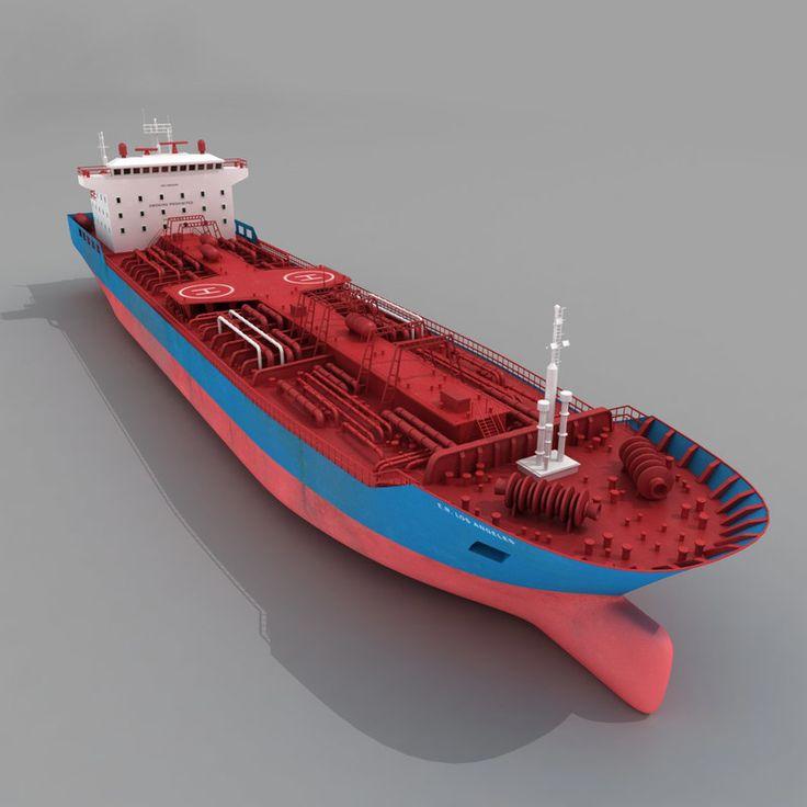 3D Ship Cargo Oil Tanker - 3D Model