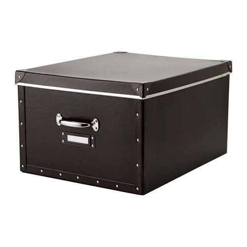FJÄLLA Pudełko z pokrywką IKEA Nadaje się do dużych przedmiotów, takich jak koce, kołdry i gry. Uchwyty ułatwiają wysuwanie i przenoszenie. - 39,99 PLN