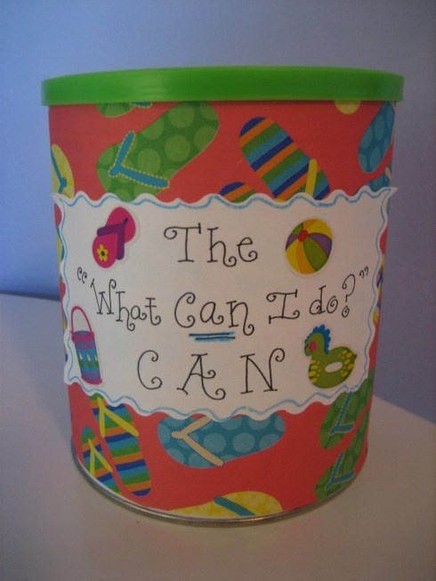 "For summer...a ""what can I do"" jar"