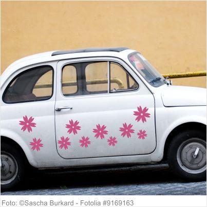 Autoaufkleber Blumen - 5er Set - Motiv 08