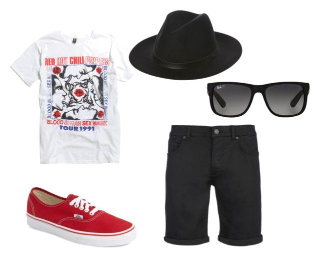 """Summer picnic outfit"" by tafrethafr on Polyvore featuring SELECTED, Vans, Globe, Ray-Ban, men's fashion, menswear and Summer"