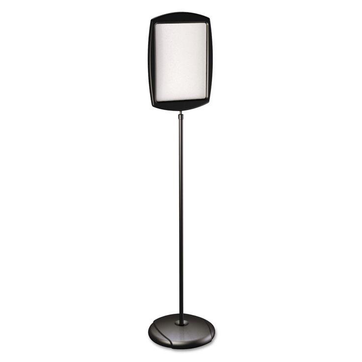 MasterVision Floor Stand Sign Holder Rectangle 15x11 sign 66-inch high Black Frame