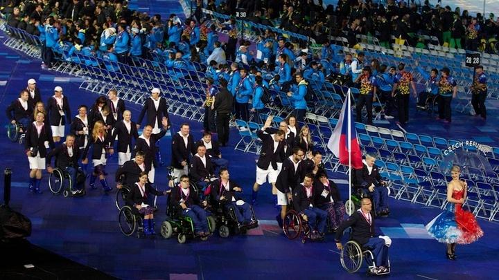 Český výprava na zahájení paralympiády. Respect, guys!