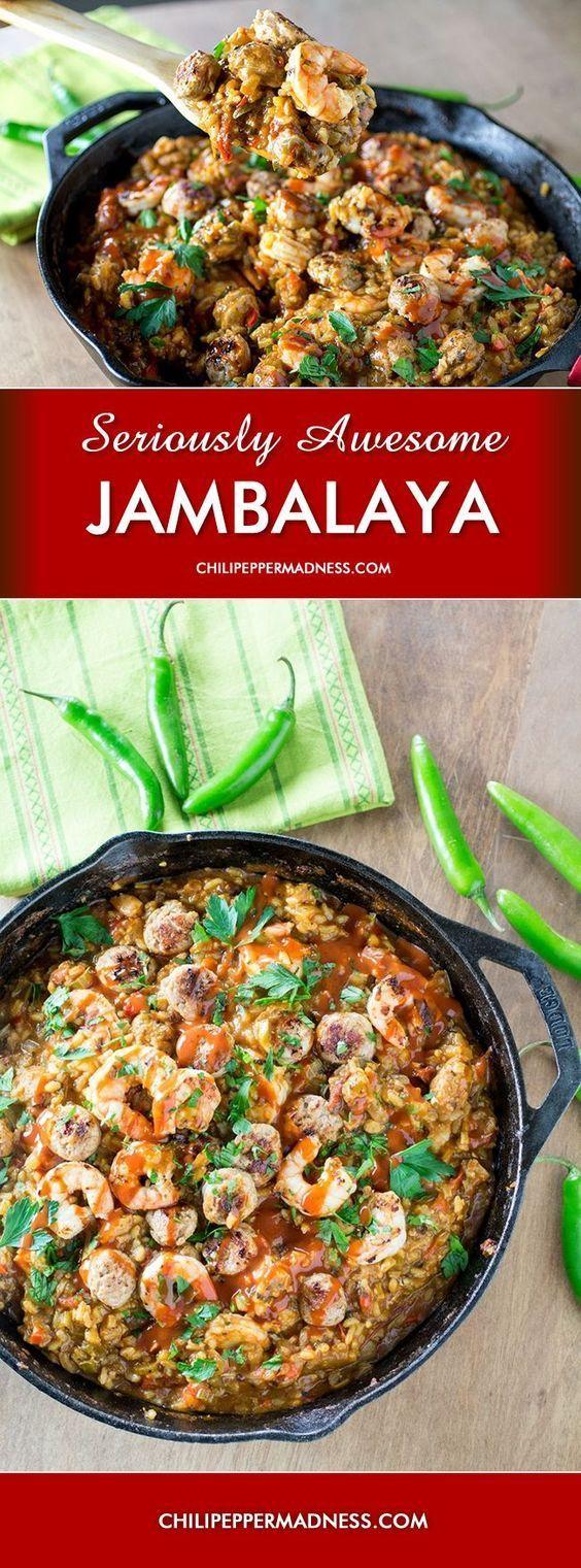 Jalapeno, Serrano, Shrimp and Andouille Jambalaya - Madness Style! Hot and Seriously Awesome!