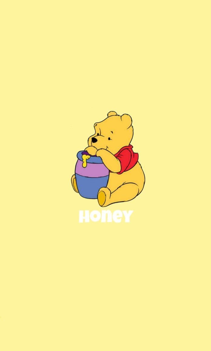 Winnie The Pooh Yellow Honey Wallpaper Aesthetic Iphone