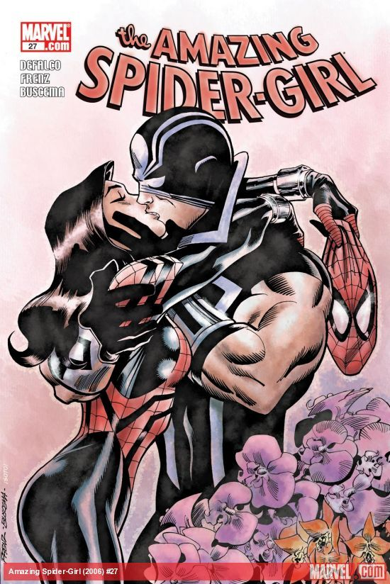 AMAZING SPIDER-GIRL (2006) #27  Published: December 10, 2008  Added to Marvel Unlimited: November 02, 2009  Rating: A  Writer: Tom DeFalco   Penciller: Ron Frenz, Colleen Coover   As Kaine, Darkdevil and Normie Osborn attempt to rescue Peter Parker from the Goblin Cult, Araña sends Spider-Girl to destroy the Black Tarantula. But this May has her own agenda (as you can see