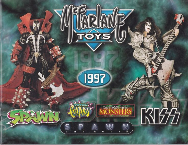 McFarlane Toys Catalog 1997 Spawn Total Chaos Kiss Monsters Spawn The Movie