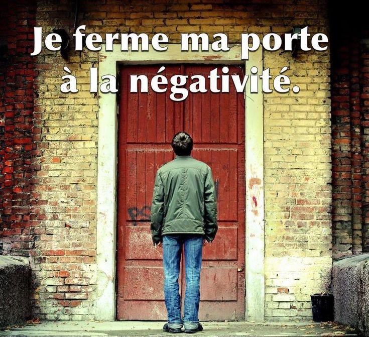Je ferme ma porte à la négativité. #citation #citationdujour #proverbe #quote #frenchquote #pensées #phrases #french #français