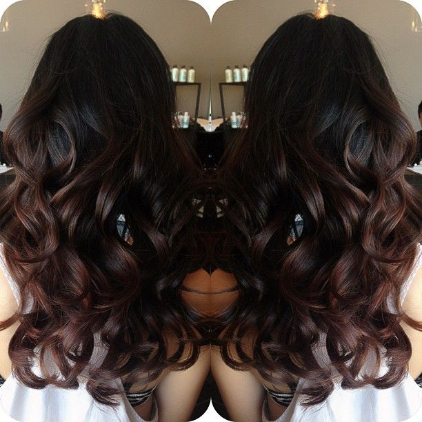 #ShareIG gorgeous ombré on darker hair #hairbylema #kuthaus text 626.617.1070 for questions or call 626.938.9116 to book an appointment :)